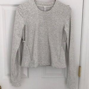 Lululemon crop lightweight sweatshirt open back
